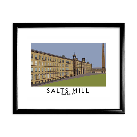 Salts Mill, Saltaire, Yorkshire 11x14 Framed Print (Black)