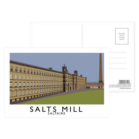 Salts Mill, Saltaire, Yorkshire Postcard Pack