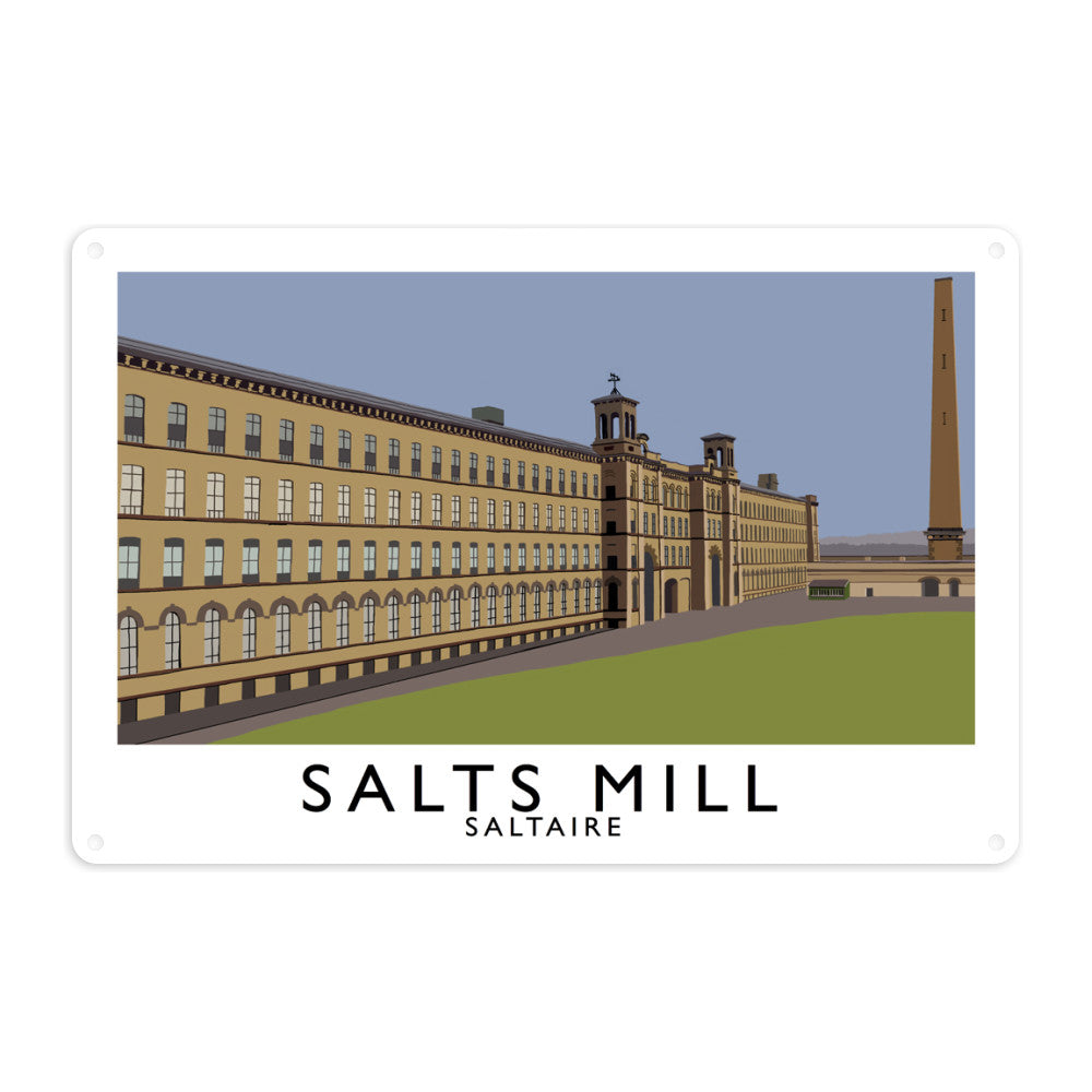 Salts Mill, Saltaire, Yorkshire Metal Sign