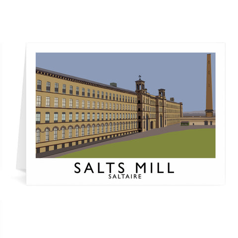 Salts Mill, Saltaire, Yorkshire Greeting Card 7x5