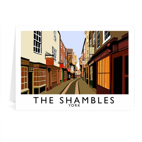 The Shambles, York Greeting Card 7x5
