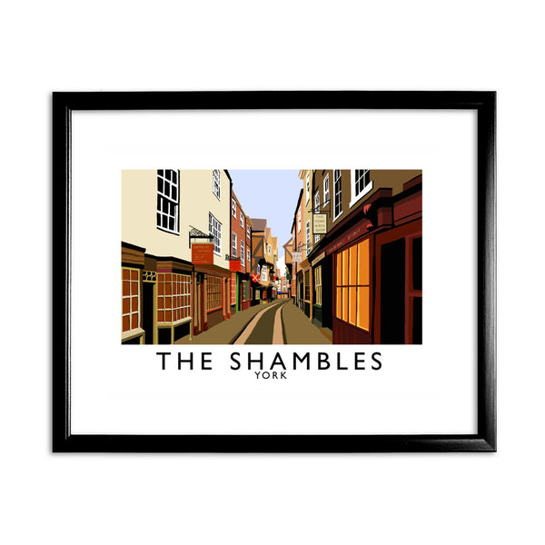 The Shambles, York 11x14 Framed Print (Black)