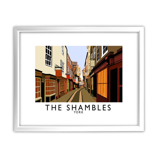 The Shambles, York 11x14 Framed Print (White)