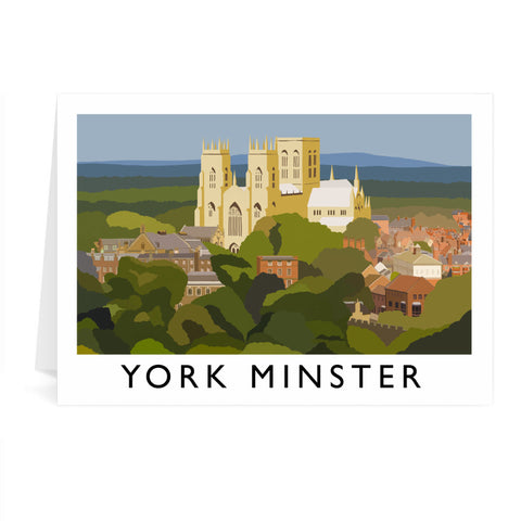 York Minster, York Greeting Card 7x5