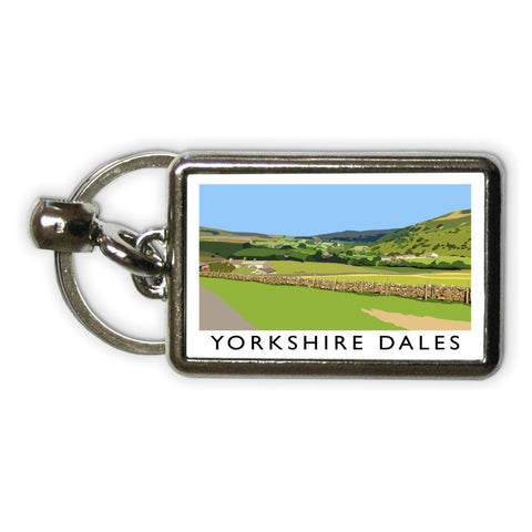 The Yorkshire Dales Metal Keyring