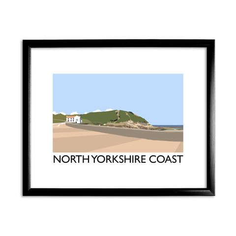 The North Yorkshire Coast 11x14 Framed Print (Black)