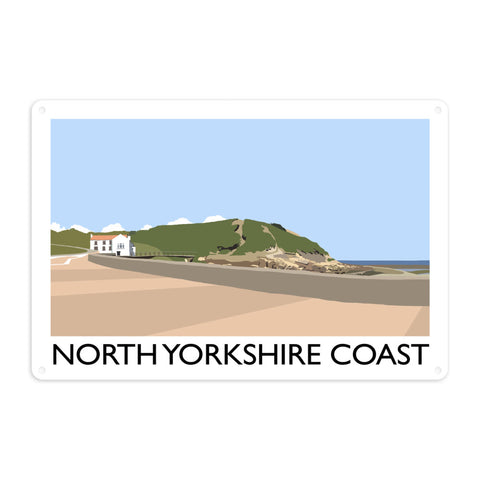 The North Yorkshire Coast Metal Sign