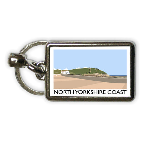 The North Yorkshire Coast Metal Keyring