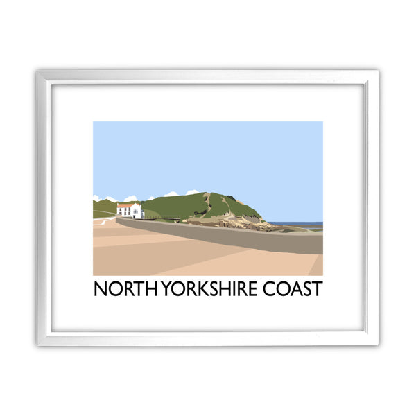 The North Yorkshire Coast 11x14 Framed Print (White)