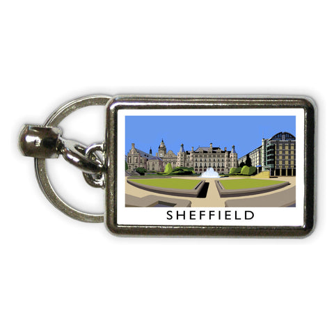 Sheffield, Yorkshire Metal Keyring