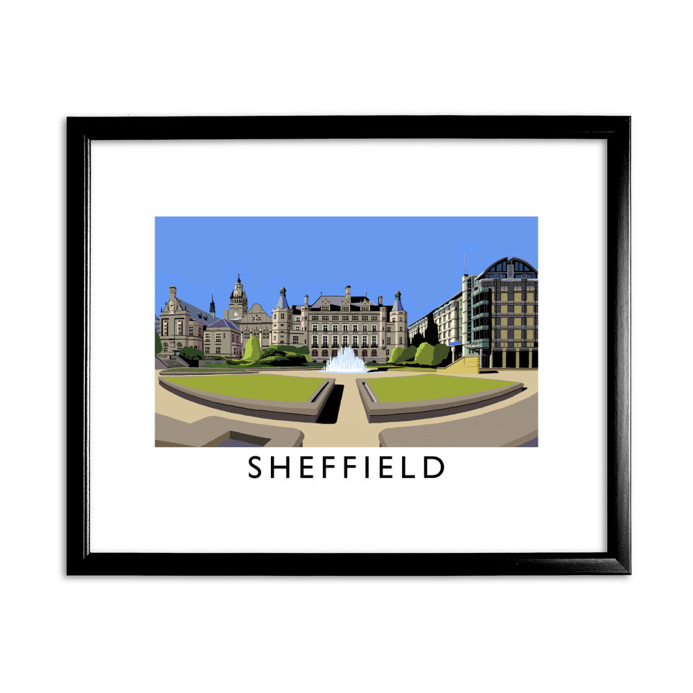 Sheffield, Yorkshire 11x14 Framed Print (Black)