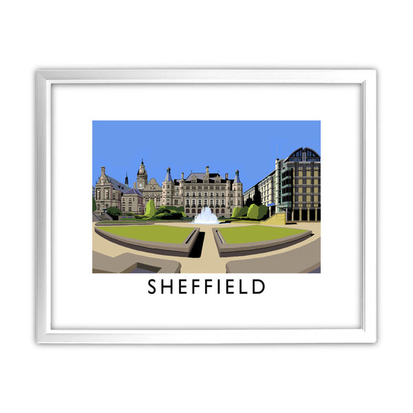 Sheffield, Yorkshire 11x14 Framed Print (White)