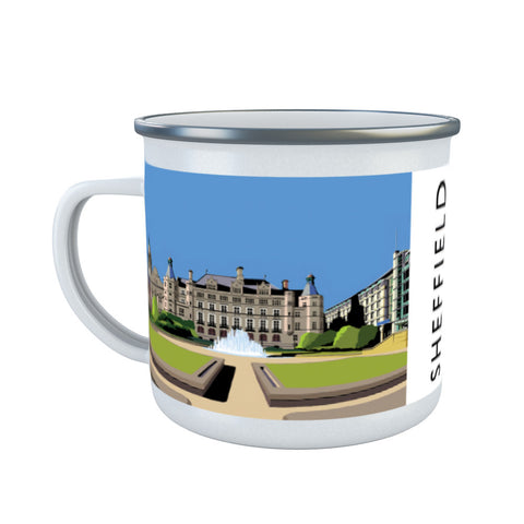 Sheffield, Yorkshire Enamel Mug