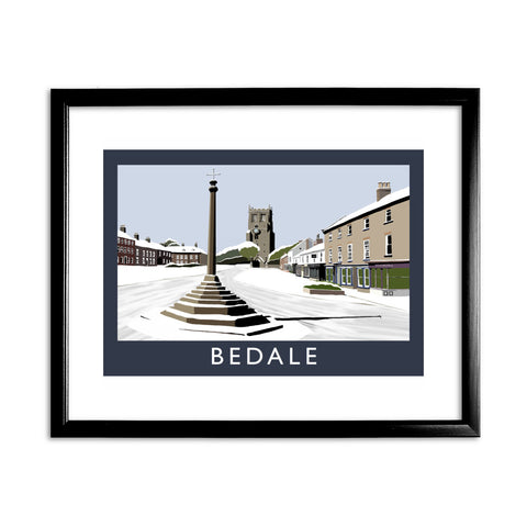 Bedale, Yorkshire 11x14 Framed Print (Black)
