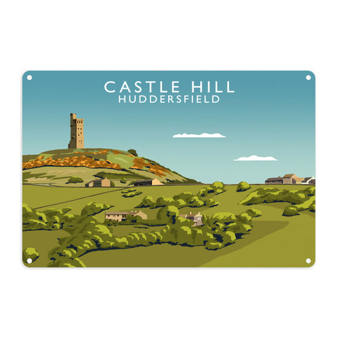 Castle Hill, Huddersfield Metal Sign