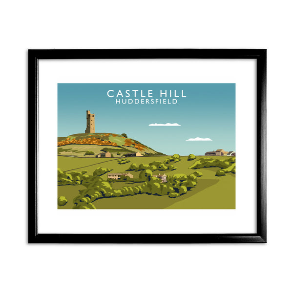 Castle Hill, Huddersfield 11x14 Framed Print (Black)