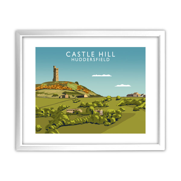 Castle Hill, Huddersfield 11x14 Framed Print (White)