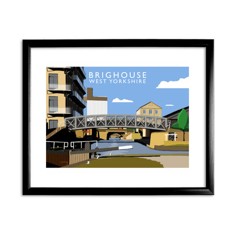 Brighouse, West Yorkshire 11x14 Framed Print (Black)