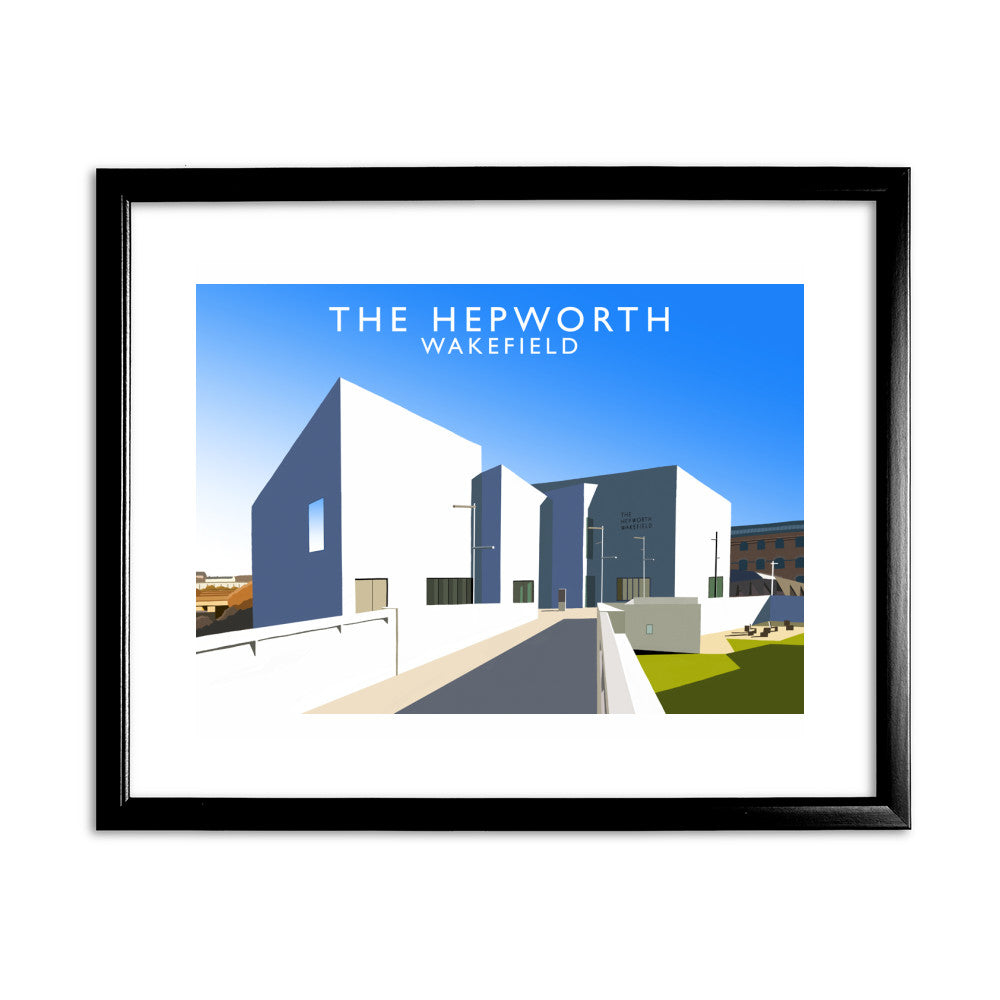 The Hepworth, Wakefield 11x14 Framed Print (Black)