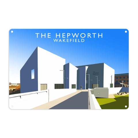 The Hepworth, Wakefield Metal Sign