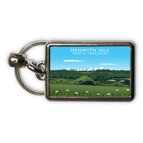 Menwith Hill, North Yorkshire Metal Keyring