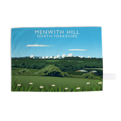 Menwith Hill, North Yorkshire Tea Towel