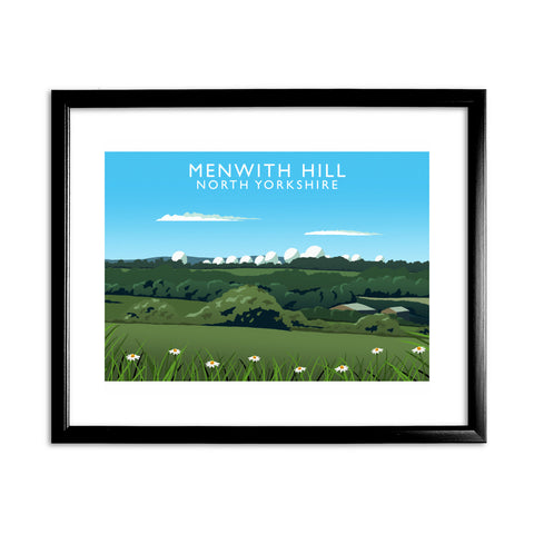 Menwith Hill, North Yorkshire 11x14 Framed Print (Black)