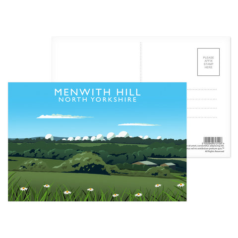 Menwith Hill, North Yorkshire Postcard Pack