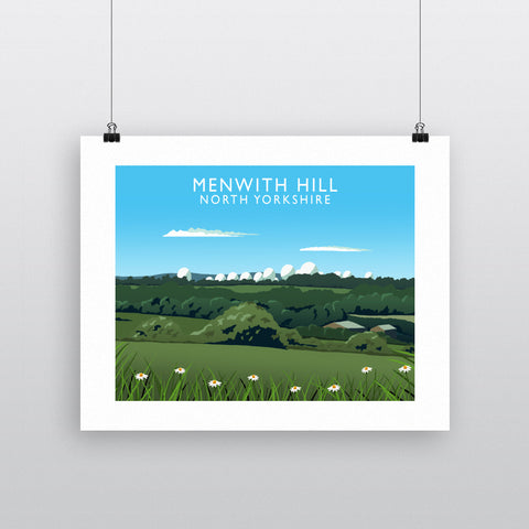 Menwith Hill, North Yorkshire 90x120cm Fine Art Print