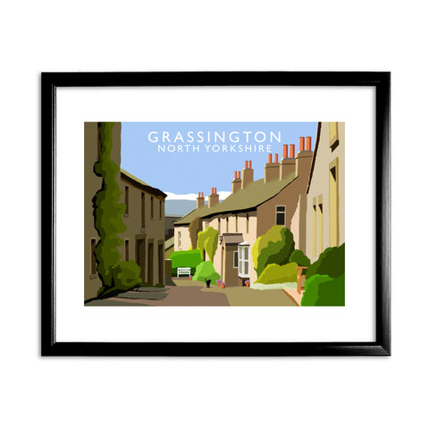 Grassington, North Yorkshire 11x14 Framed Print (Black)