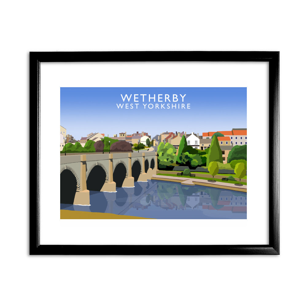 Wetherby, West Yorkshire 11x14 Framed Print (Black)