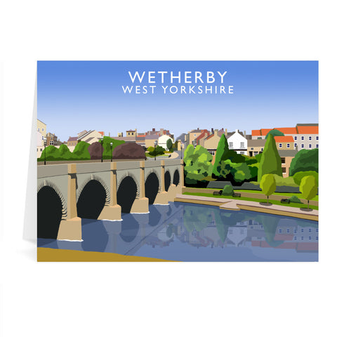 Wetherby, West Yorkshire Greeting Card 7x5