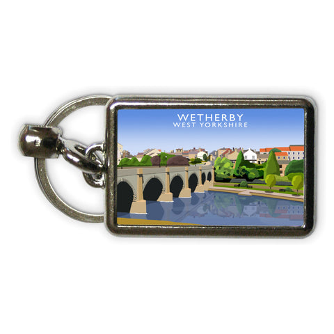 Wetherby, West Yorkshire Metal Keyring