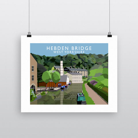 Hebden Bridge, West Yorkshire 90x120cm Fine Art Print