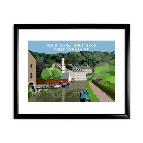 Hebden Bridge, West Yorkshire 11x14 Framed Print (Black)