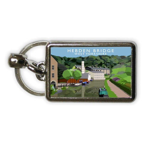 Hebden Bridge, West Yorkshire Metal Keyring