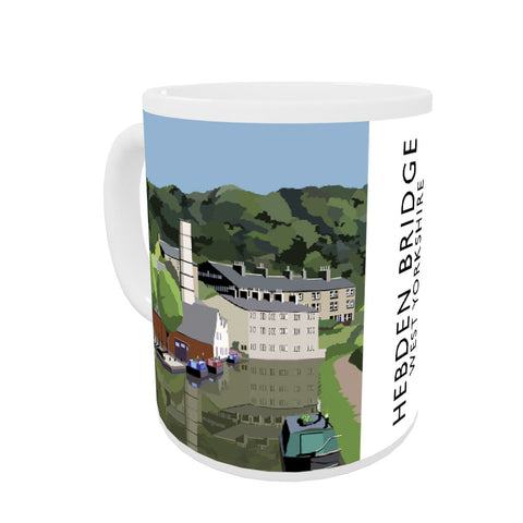 Hebden Bridge, West Yorkshire Coloured Insert Mug