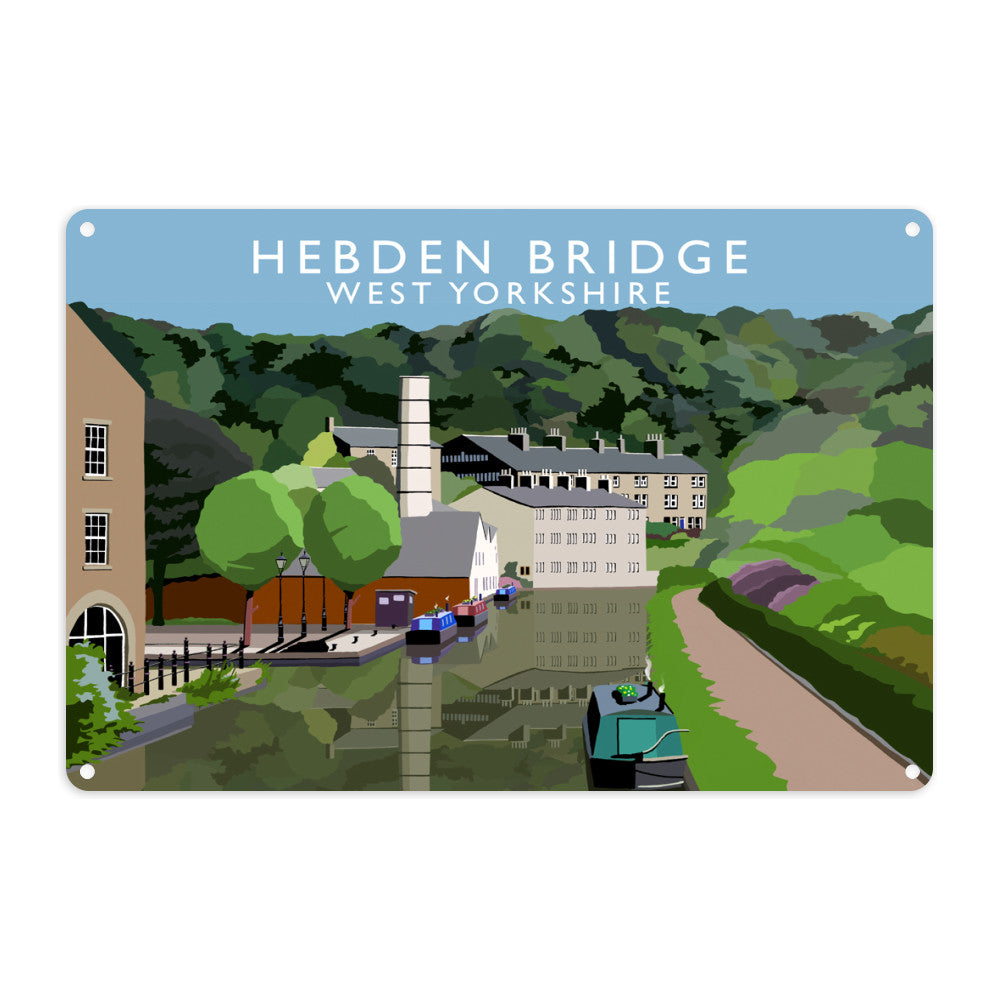 Hebden Bridge, West Yorkshire Metal Sign