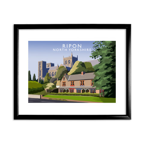 Ripon, North Yorkshire 11x14 Framed Print (Black)