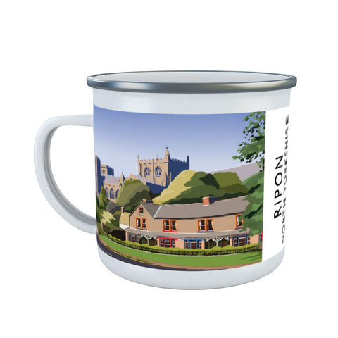 Ripon, North Yorkshire Enamel Mug