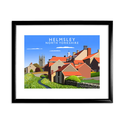 Helmsley, North Yorkshire 11x14 Framed Print (Black)