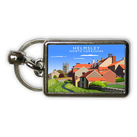 Helmsley, North Yorkshire Metal Keyring