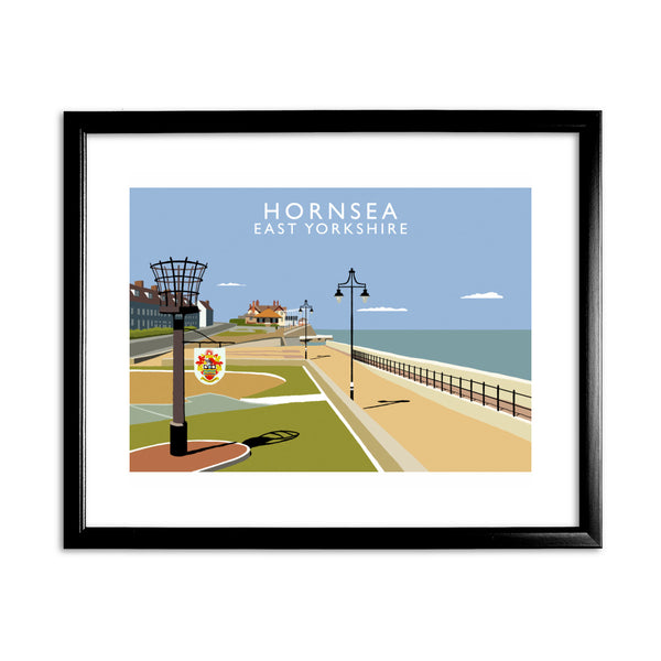 Hornsea, East Yorkshire 11x14 Framed Print (Black)