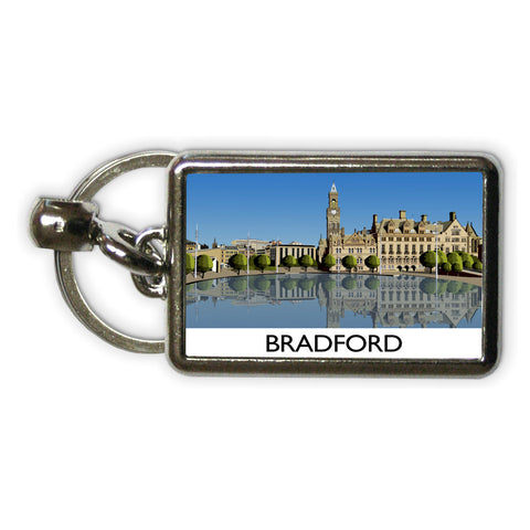 Bradford, West Yorkshire Metal Keyring