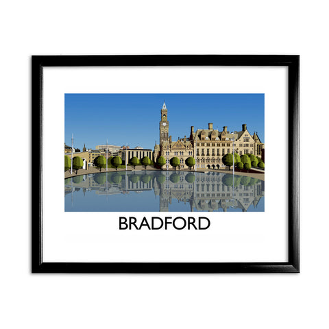 Bradford, West Yorkshire 11x14 Framed Print (Black)