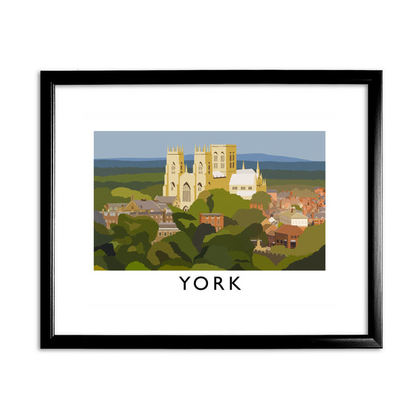 York, Yorkshire 11x14 Framed Print (Black)