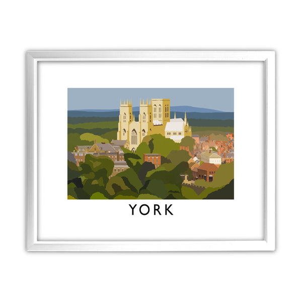 York, Yorkshire 11x14 Framed Print (White)
