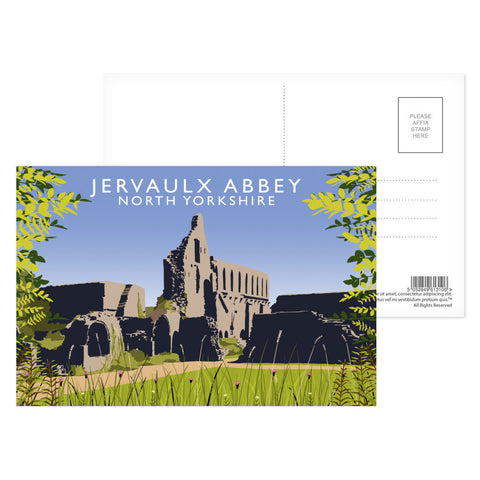 Jervaulx Abbey, North Yorkshire Postcard Pack