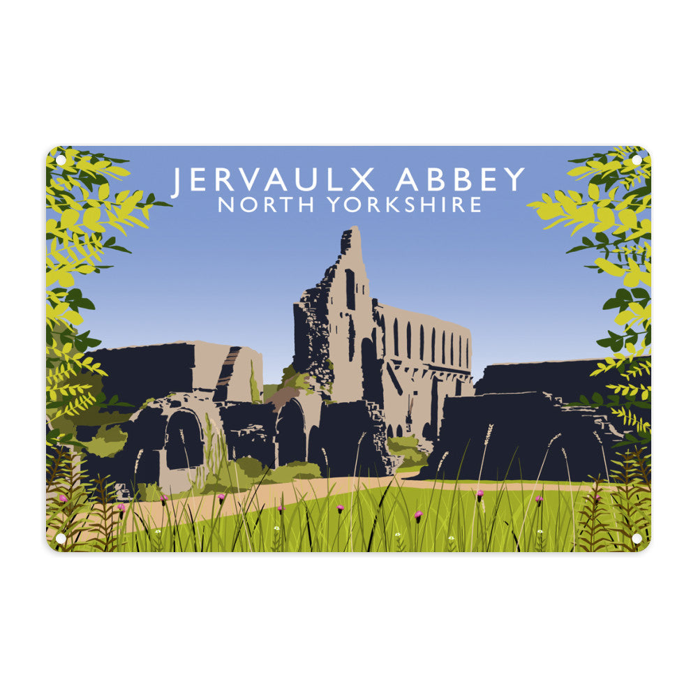 Jervaulx Abbey, North Yorkshire Metal Sign