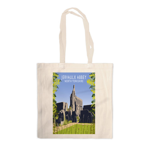 Jervaulx Abbey, North Yorkshire Canvas Tote Bag
